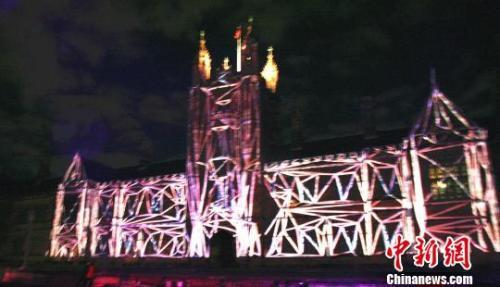悉尼大学灯光秀(图片来源:中国新闻网)