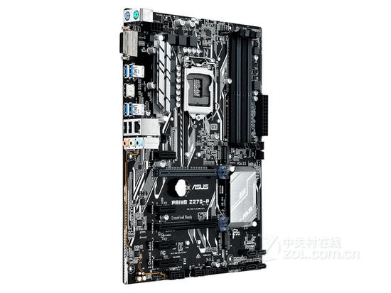 图为:华硕PRIME Z270-P侧面 华硕PRIME Z270-P采用Intel Z270芯片组,ATX板型,支持英特尔14nm处理器。集成Realtek ALC887 8声道音效芯片,板载Realtek RTL8111H千兆网卡。4DDR4 DIMM最大内存容量64GB,配有2PCI-E X16显卡插槽,4PCI-E X1插槽。