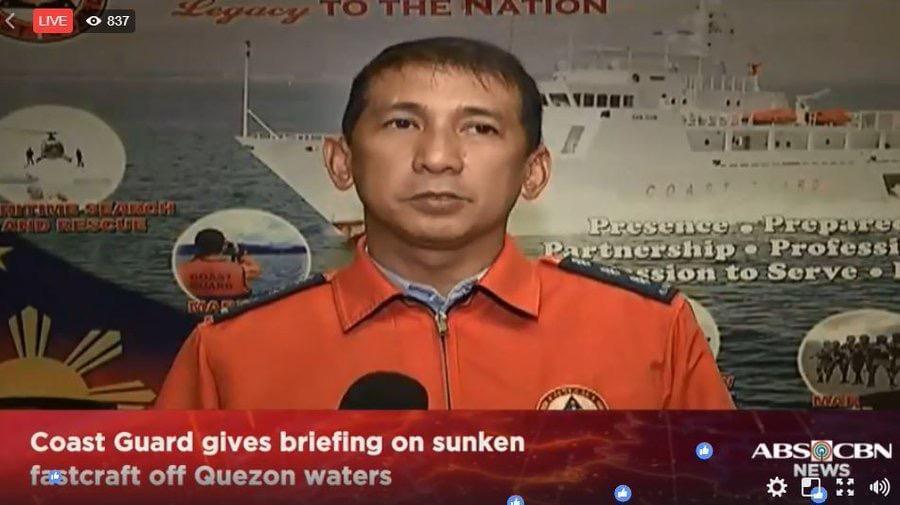 一载251人渡船在菲律宾附近海域倾覆 已致39人死亡
