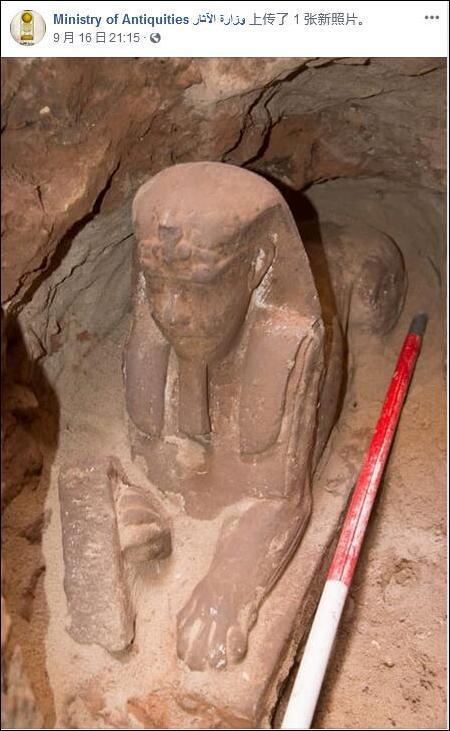又是在施工时!埃及发现新的2000年前狮身人面像