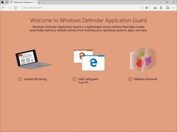 Win10最新测试版内建Windows Defender应用程序防护功能
