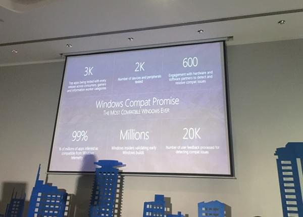 微软:Windows 10是兼容性最好的Windows产品的照片