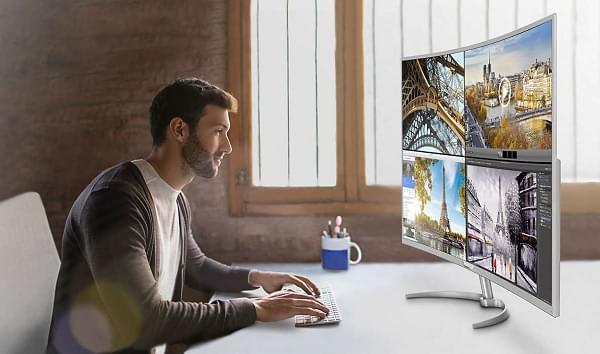 """飞利浦发布""""全球最大的4K曲面显示器"""" 大小为40英寸的照片 - 1"""