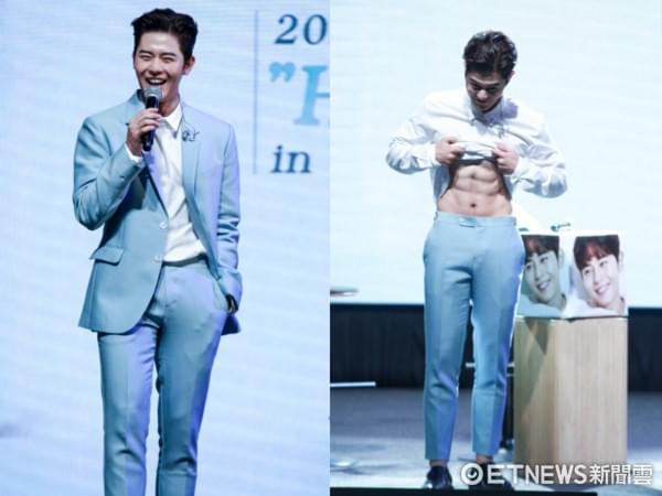 韩国男星金桐俊见面会放送六块腹肌 自曝讨厌运动