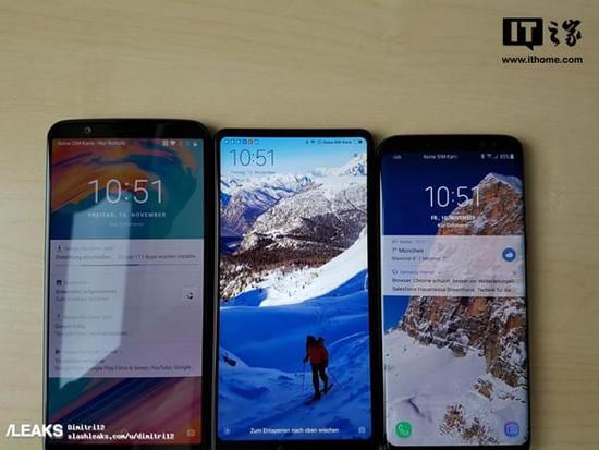 一加手机5t真机确认:同框对比小米mix 2/三星s8