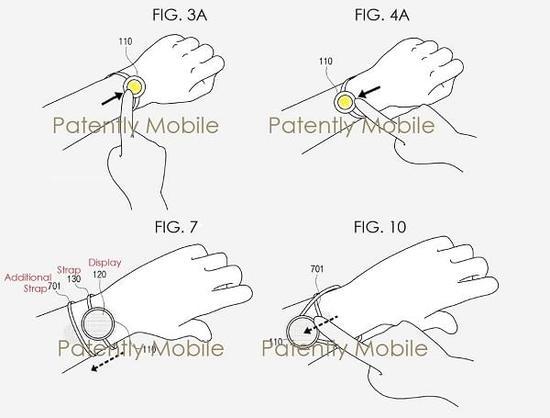 三星新款智能手表专利曝光:柔性显示屏与手链式细表带很抢眼