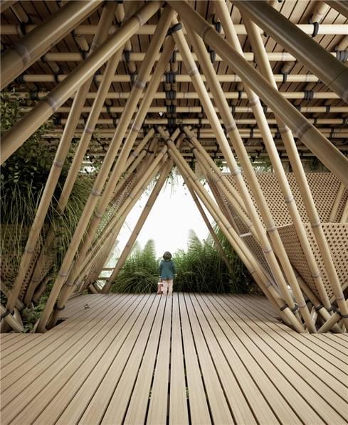 他用竹子打造一栋房子 却未使用一根钉子的照片 - 11