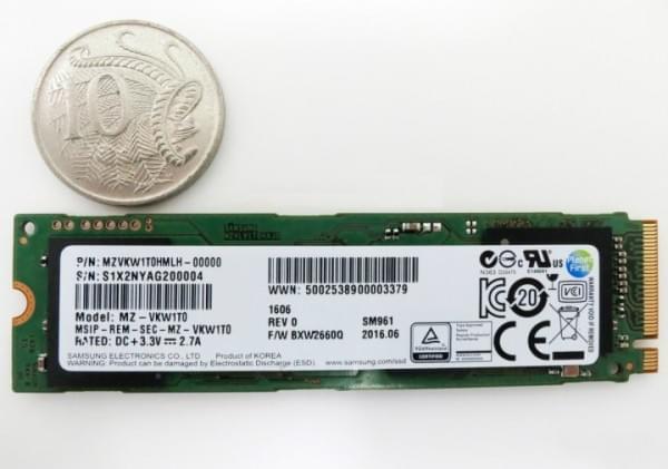 5300元 三星SM961 M.2 SSD开卖的照片