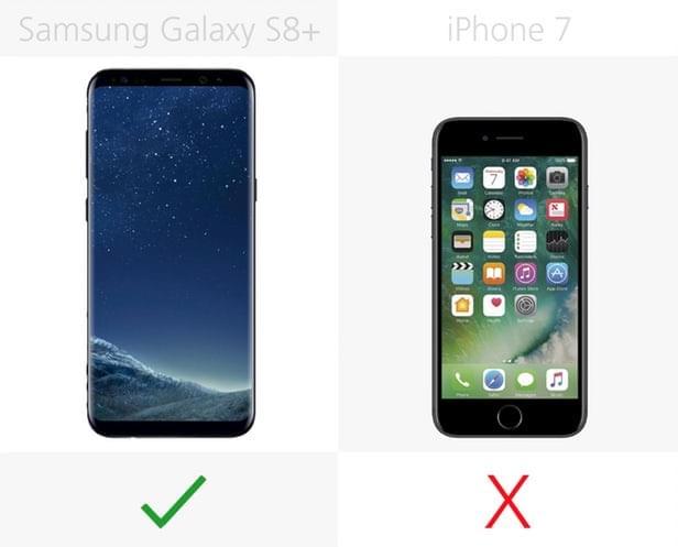Galaxy S8+和iPhone 7规格参数对比的照片 - 16