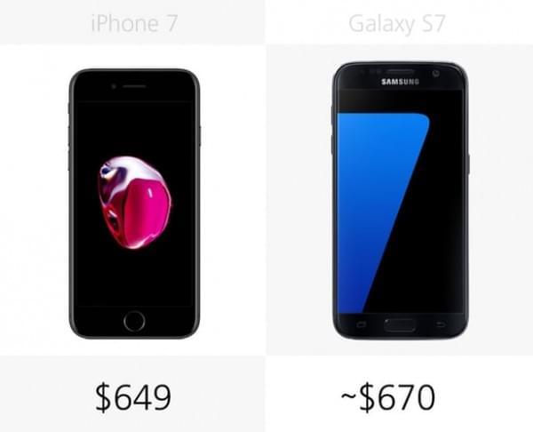 iPhone 7和Galaxy S7规格参数对比的照片 - 26