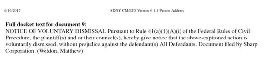 夏普撤回对海信的诉讼 此前曾索赔1亿美元