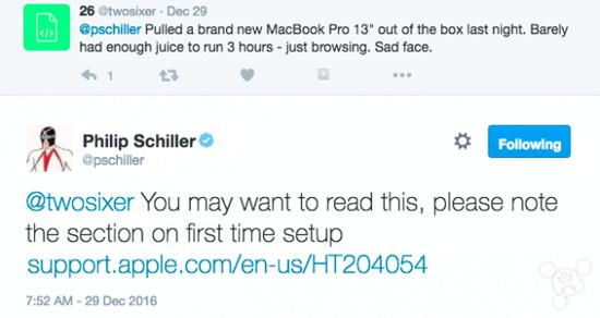 席勒回应新MacBook Pro电池问题:初次设置要注意