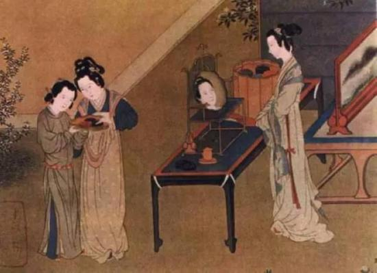 古代女子结婚服饰简笔画