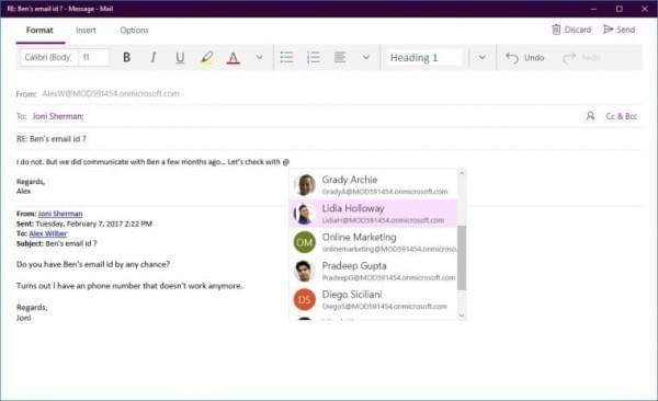 Win10邮件和日历应用迎重大更新:Focused Inbox功能上线的照片 - 2
