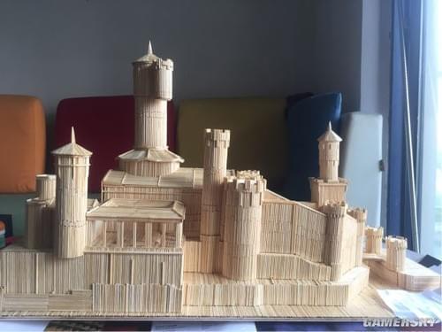 diy大神用牙签筷子打造《魔兽世界》暴风城