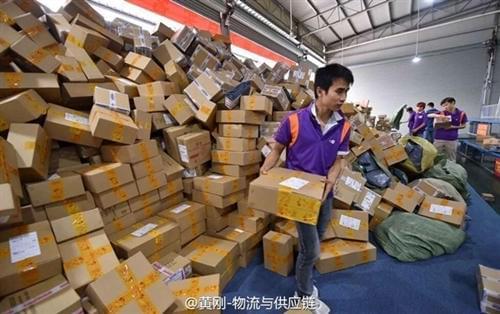 电商功不可没 快递成中国经济增速最快行业的照片