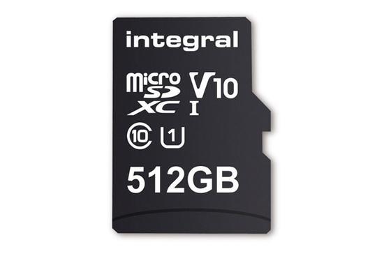 Integral发布世界首张512GB的microSD卡