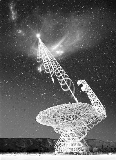 是外星人吗? 宇宙同一位置探测到多次射电暴的照片