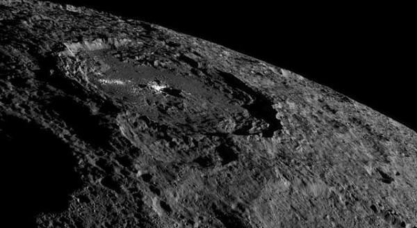"NASA拍到谷神星""亮斑"",也许是百万年前撞出来的"