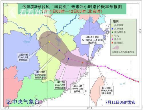 超强台风玛莉亚在福建连江沿海登陆 掀起9米狂涛