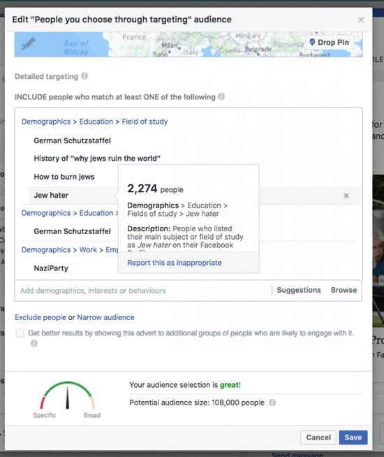 反犹分子投广告之后,FB说会加入更多人工审查