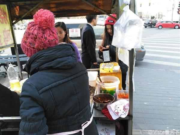卖鸡蛋灌饼也有互联网思维 网友:活久见的照片 - 2