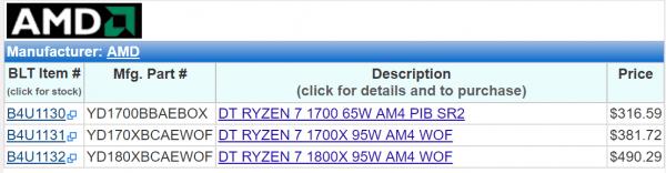 AMD Ryzen 7处理器开始铺货 售价公布的照片 - 2