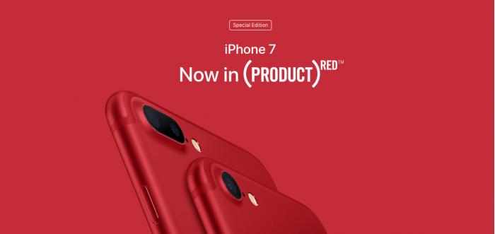 苹果推出红色特别版iPhone 7系列,何为(Product)RED?的照片 - 2