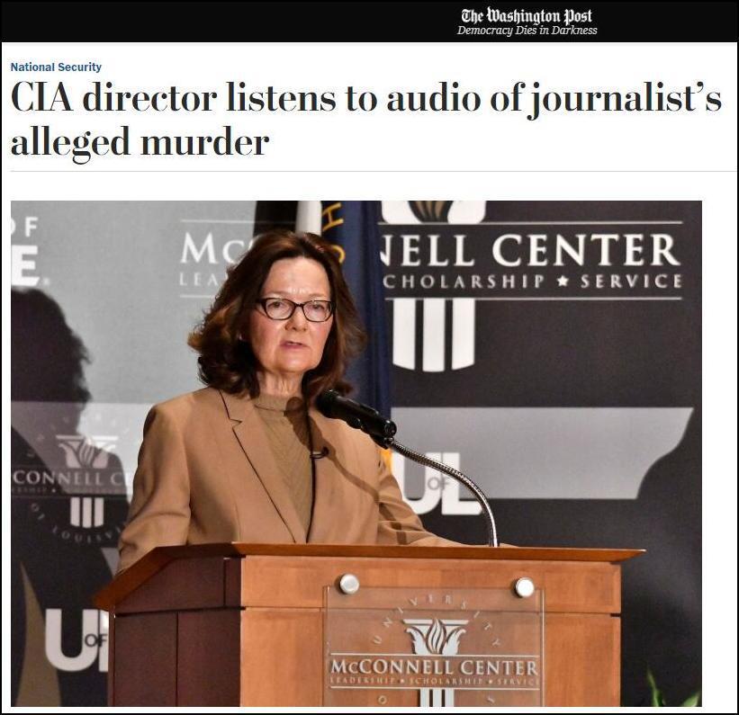 美媒:CIA局长已听过沙特记者被审讯杀害现场录音