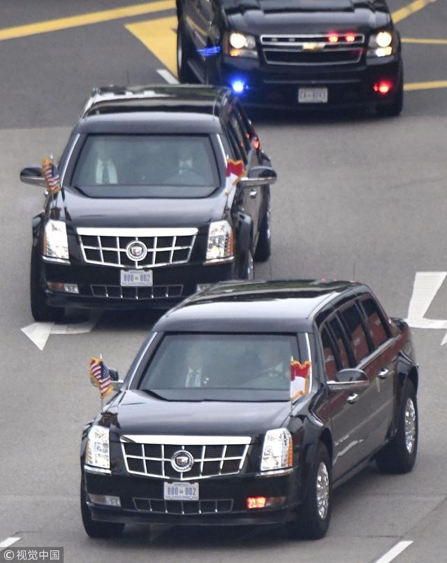 普京特朗普座驾引外媒关注:普京的车大 更有气概