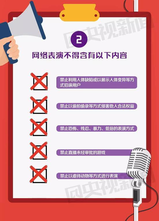 """央视:新规连发 """"网红""""的这些表演禁止再做的照片 - 5"""