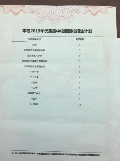 京初中入学通知书统一 一般校与优质校颜色不同