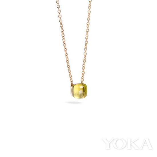 Pomellato Nudo系列柠檬晶玫瑰金吊坠项链,价格店询。