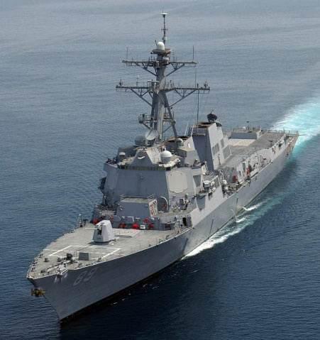 台媒:两艘美军驱逐舰今早通过台湾海峡