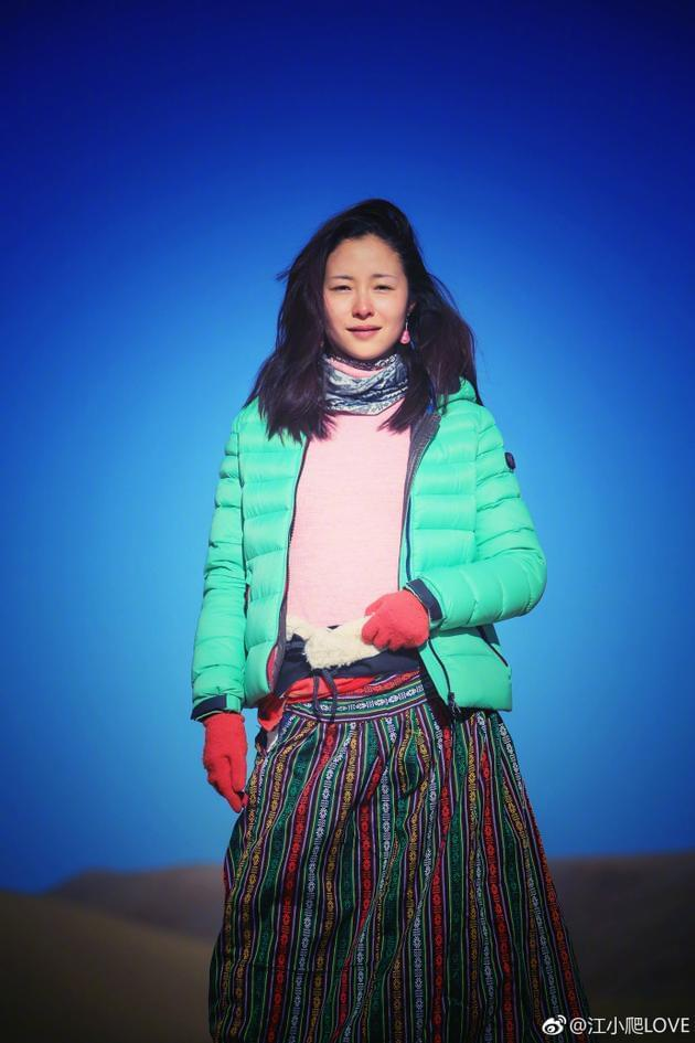 江一燕晒新剧造型 素颜穿藏族服装尽显原生态