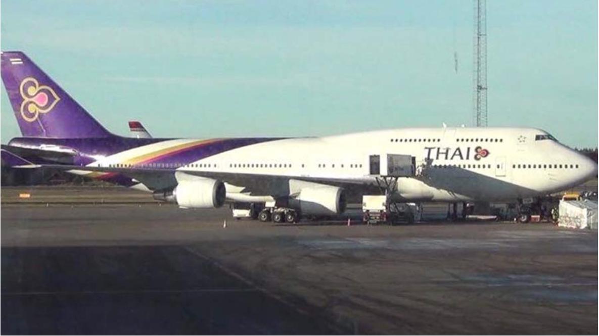 泰航广州飞曼谷航班着陆时滑出跑道 载有115人