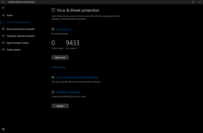 Windows 10 build 15042公布:Windows Defender获改善的照片 - 3