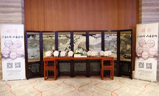 淳法大和尚书法作品与尚燃藏茶产品展示