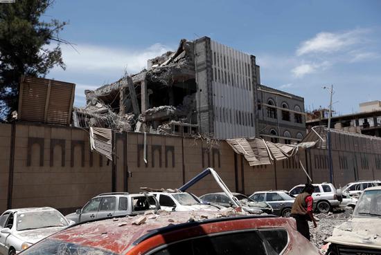 沙特联军空袭也门首都市中心 致6人死亡30人受伤