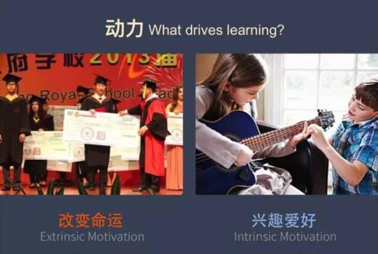 其实,由兴趣引发的学习动力一定比功利的目标引发的动力更持久而有力。