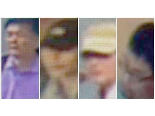闭路电视显示金正男遇害前3名男特工早已在餐馆内