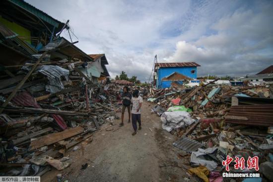 印尼地震海啸已致死1948人 灾区政府机构恢复服务