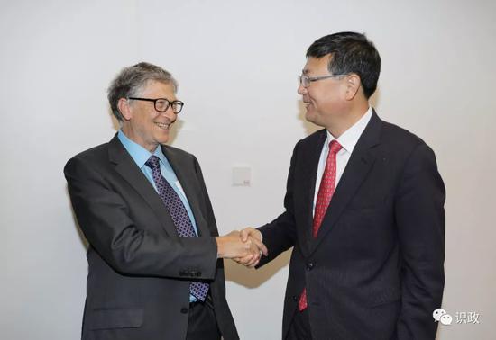 陈吉宁和比尔-盖茨为这个机构揭牌 盖茨赞合作典范