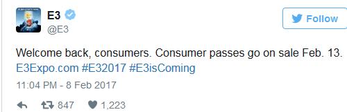 E3 2017首次对公众开放!门票仅售250美元的照片 - 2