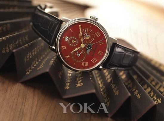 红色大明火珐琅中华年历孤品腕表