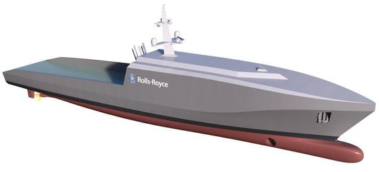 劳斯莱斯计划推出无人舰船 可自动巡逻/监视/探雷
