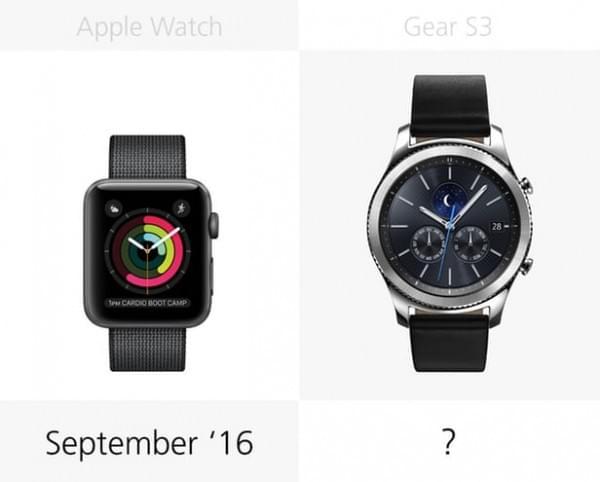 Apple Watch Series 2和三星Gear S3规格参数对比的照片 - 24