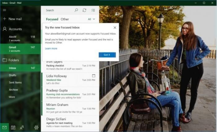 Gmail用户也能享受Win10邮件和日历应用新功能了的照片 - 1