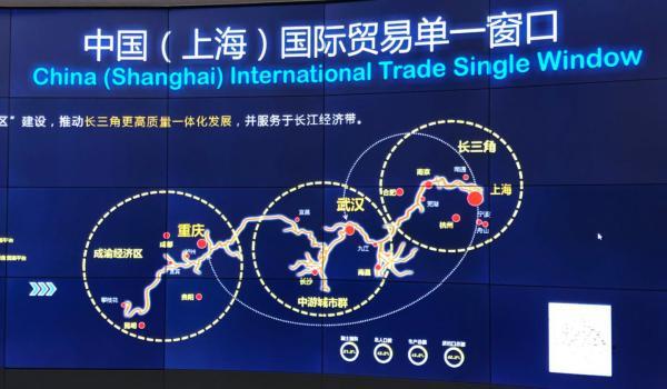 长三角领导考察上海国际贸易单一窗口