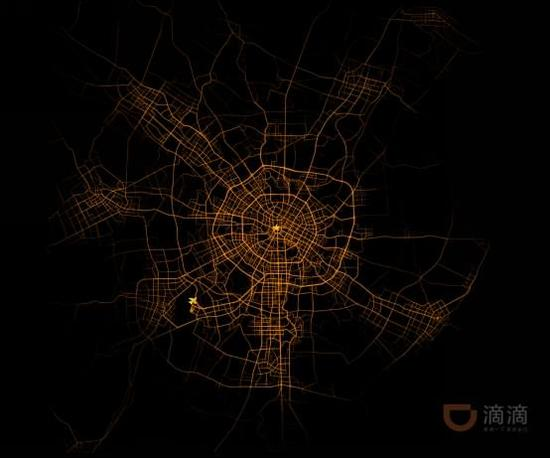 图4 成都城市路网结构